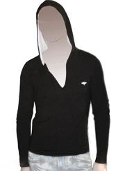 Мужская футболка с капюшоном и длинными рукавами (лонгслив)