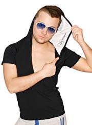 Мужская футболка с капюшоном  и короткими рукавами YGTENOR