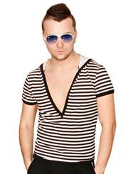 Мужская футболка с капюшоном  MARINE