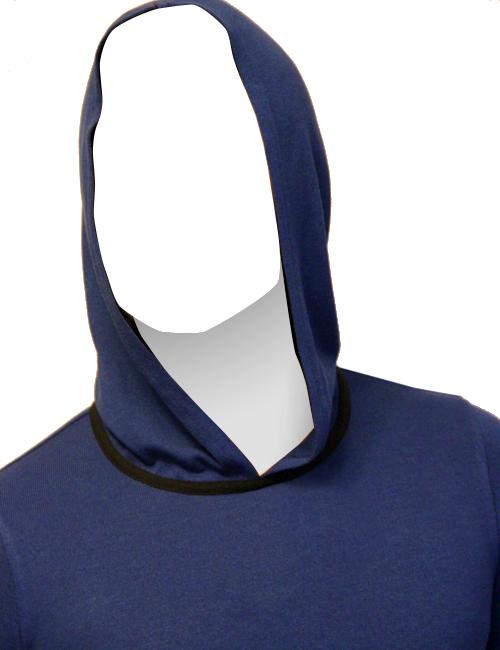 Мужская футболка CRUDE с капюшоном