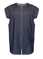 Удлиненный мужской джинсовый жилет