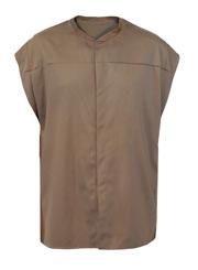 Летняя мужская безрукавка жилет серо-коричневая