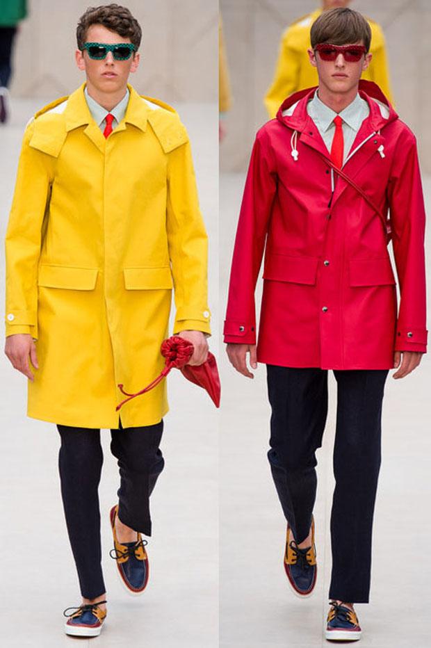 Мужские куртки с капюшонами от Burberry Prorsum весна-лето 2014