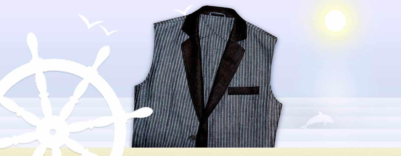 Льняной пиджак-жилет без рукавов